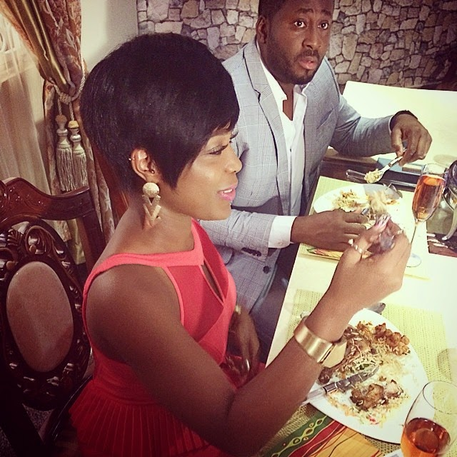 Desmond Elliot and Moet Abebe All Cozy On The Set Of New Movie – Photos