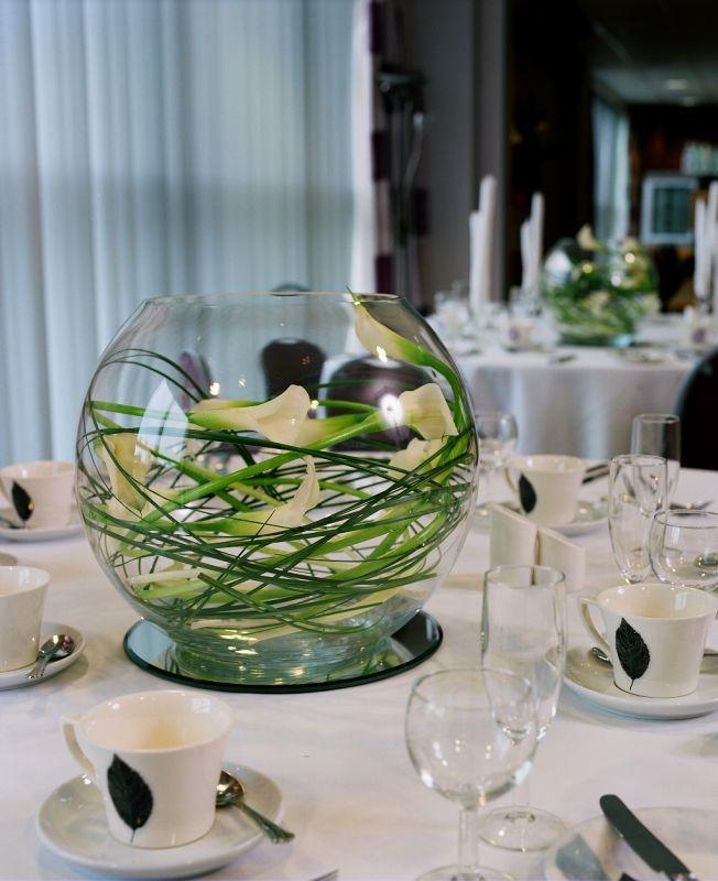 Los detalles de lex centros de mesa para tu boda for Centros de mesa con peceras