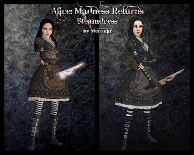 Alice: Madness Returns Set by MeroninSims3  Steamdress