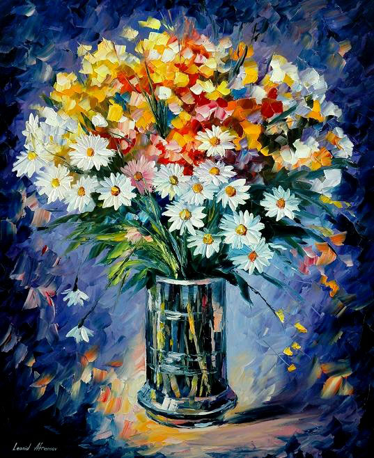 Frames And Colors: Amazing Flower Paintings By Leonid Afremov