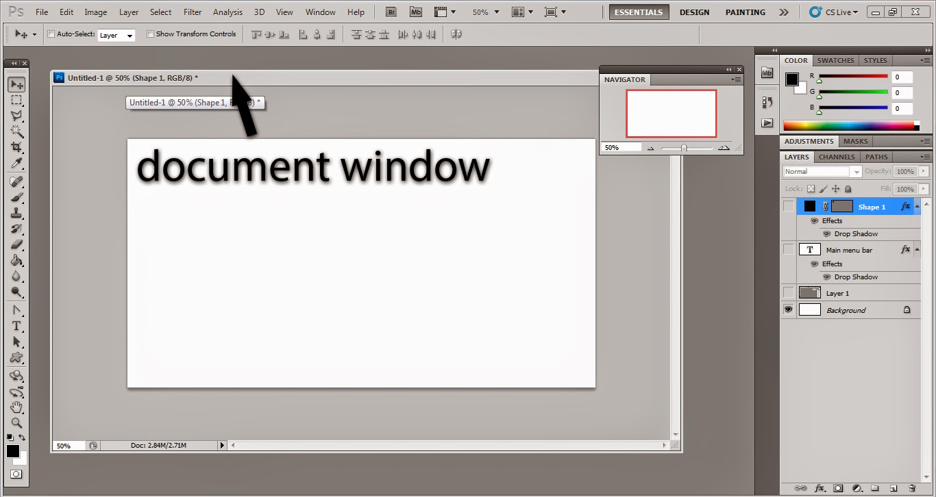From photoshop to wordpress tutorial photoshop all open documents appear in the document window that can be moved by keeping pressed the left mouse button on the title bar of an open window and drag it baditri Image collections