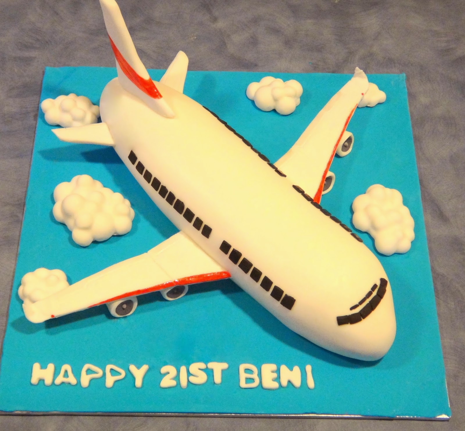 Delicious Art Aeroplane Cake With Picture Tutorial