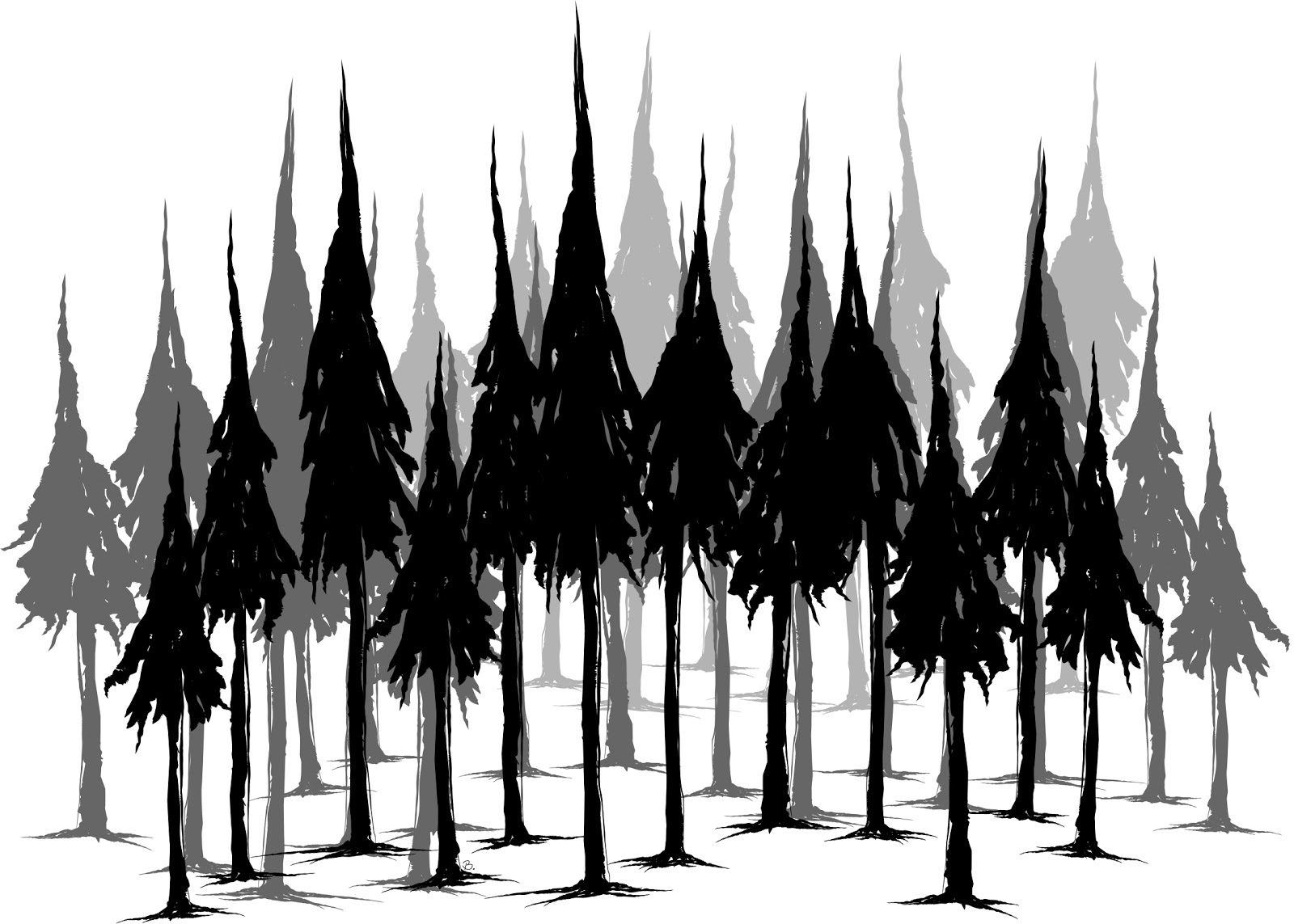 Displaying 19> Images For - Douglas Fir Tree Silhouette...