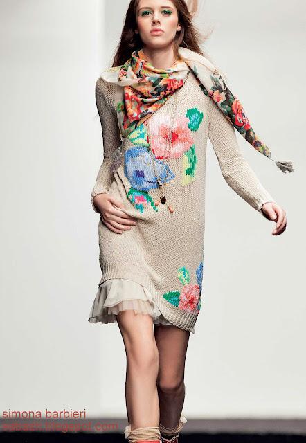 вязаное платье крючком,knitted dress,Strickkleid,simona barbieri