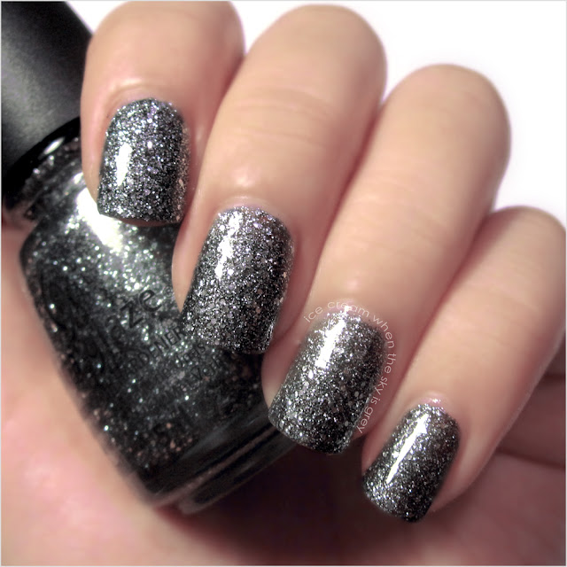 China Glaze Tinsel Town Nail Polish Let It Snow! Holiday 2011 Collection Swatch & Review