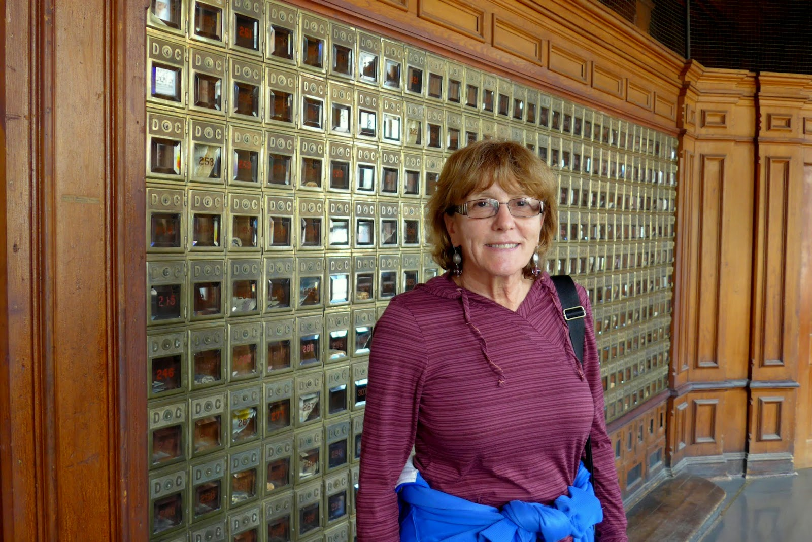 Liz in the old post office.