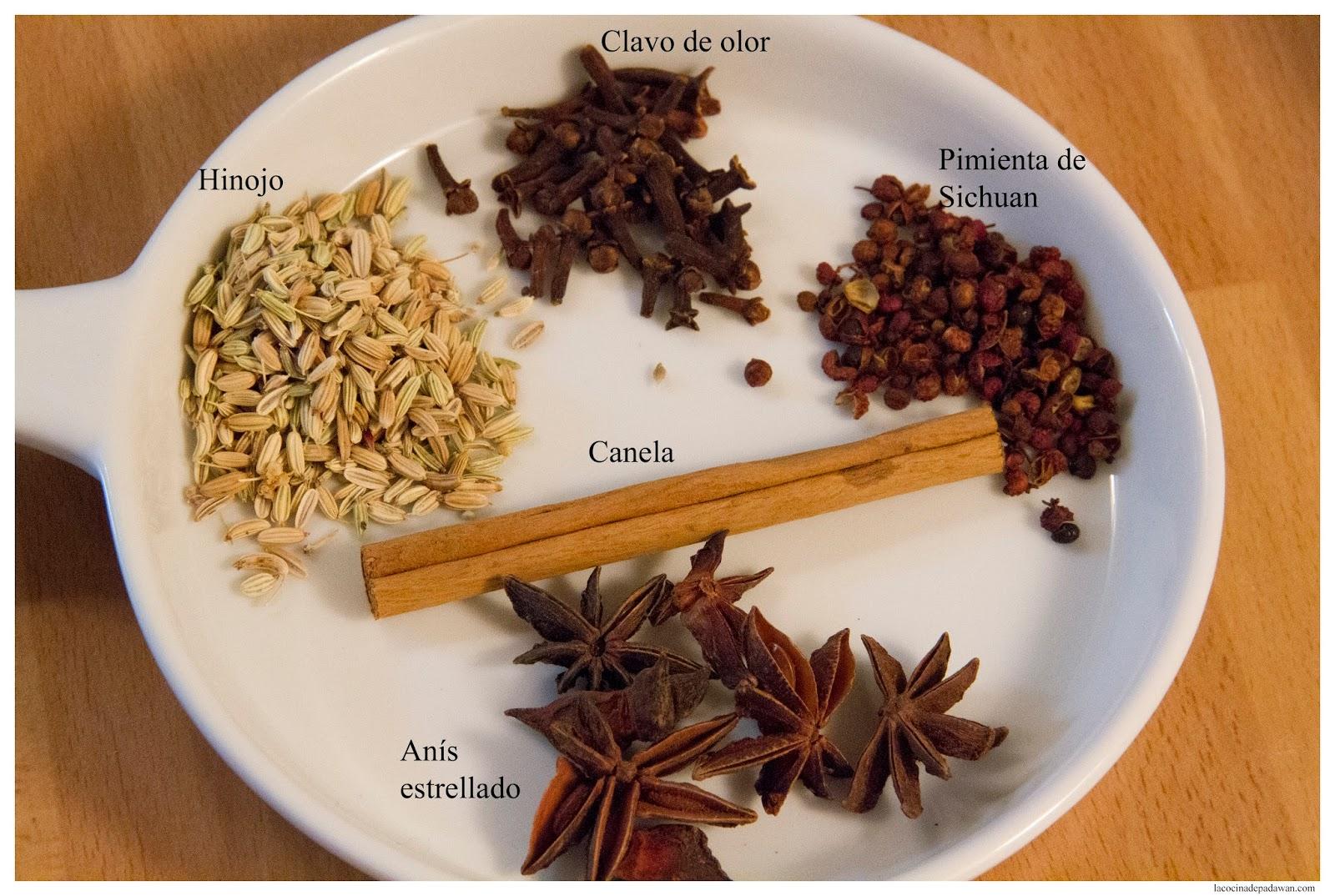 La cocina de padawan cinco especias chinas - Especias para la cocina ...