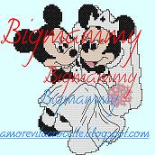 Schema Minnie e Topolino Sposi