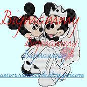 Schema Minnie e Topolino Sposi