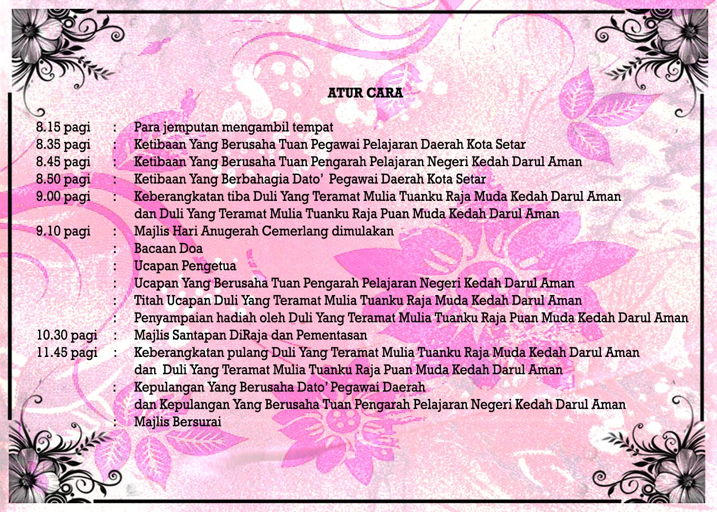 Design Kad Jemputan