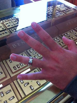 The Doeblerghini Bunch:  Wedding Band Shopping (His)