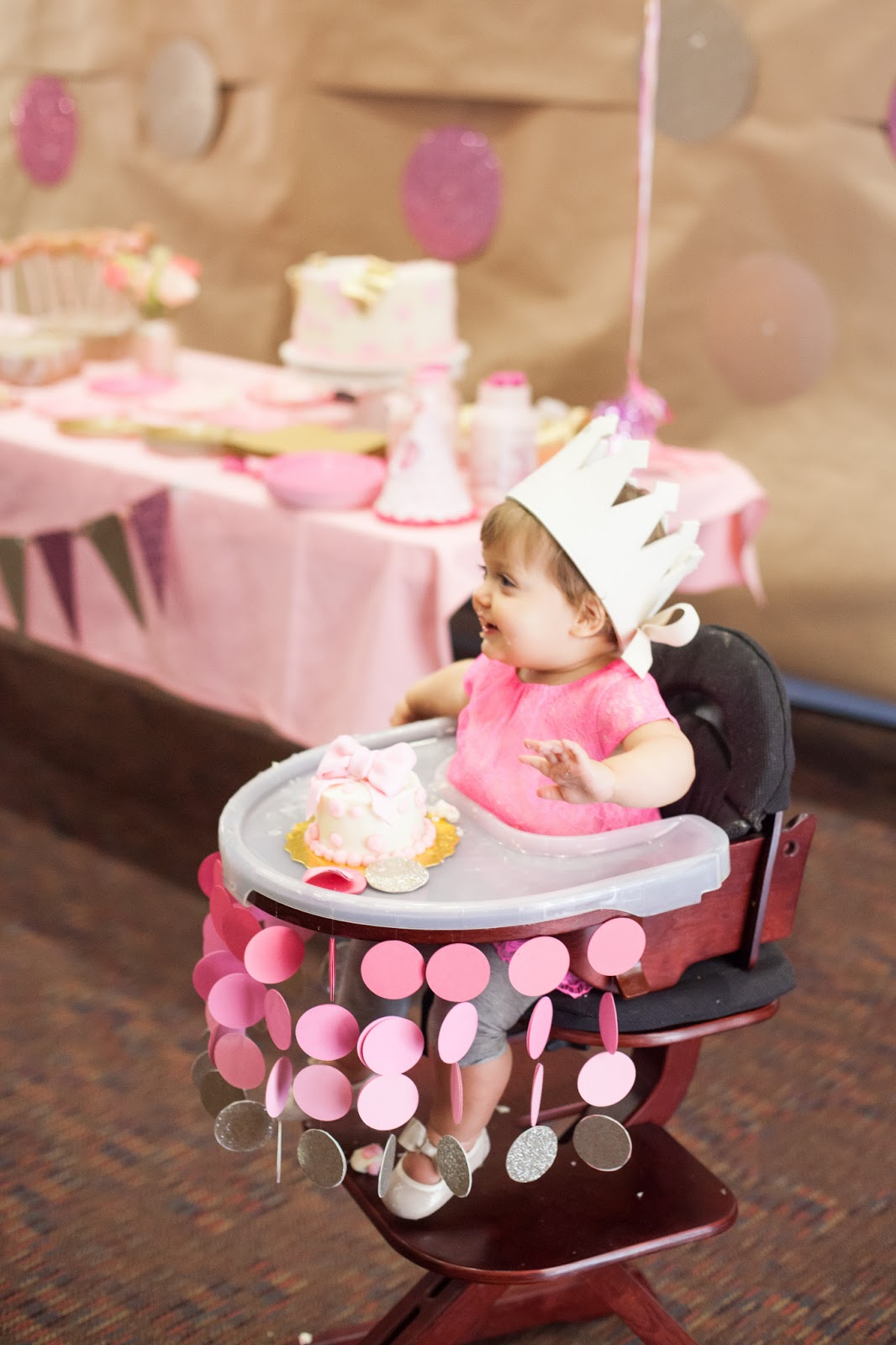 Nat your average girl 1st birthday party decor for Baby girl first birthday party decoration ideas