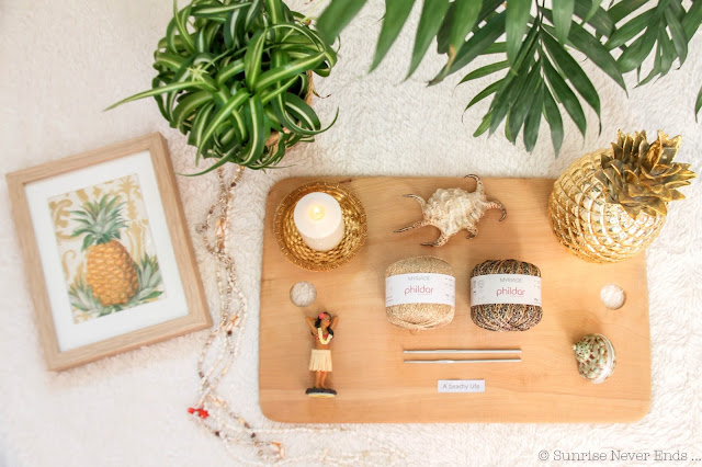 aloha bling purse,diy,crochet,ananas,pineapple,billabong,phildar