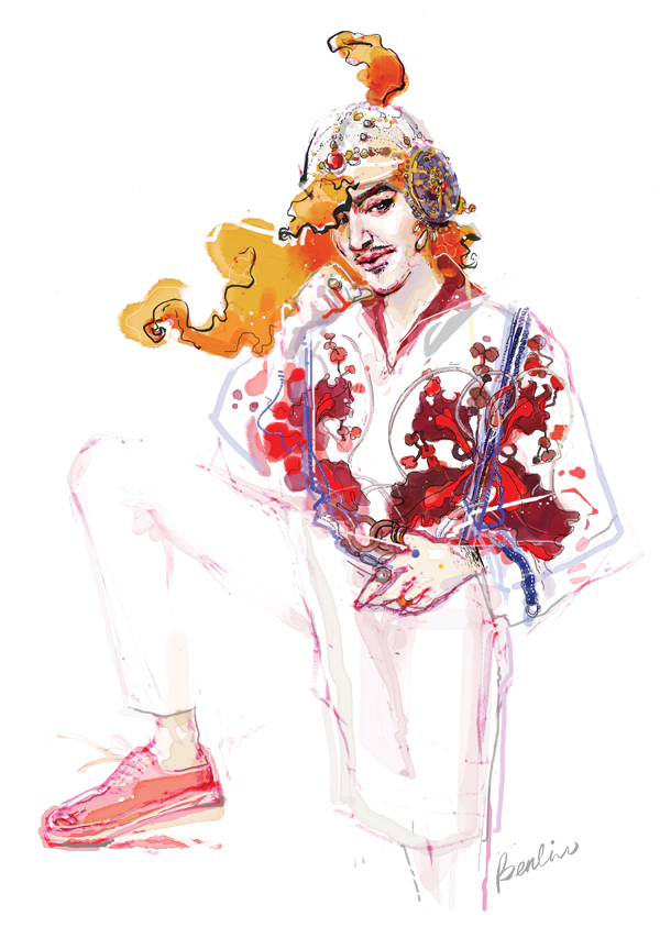 John Galliano illustration