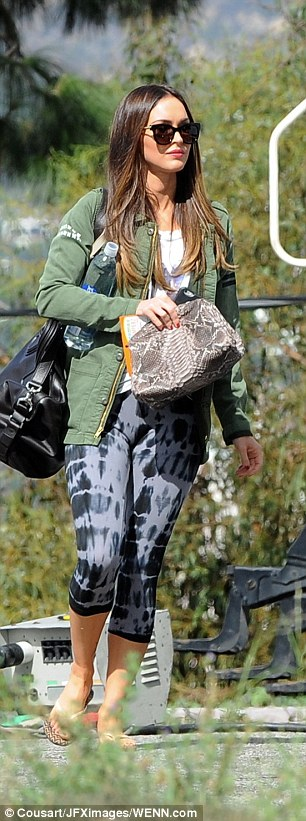 Megan Fox Wearing Capri Legging