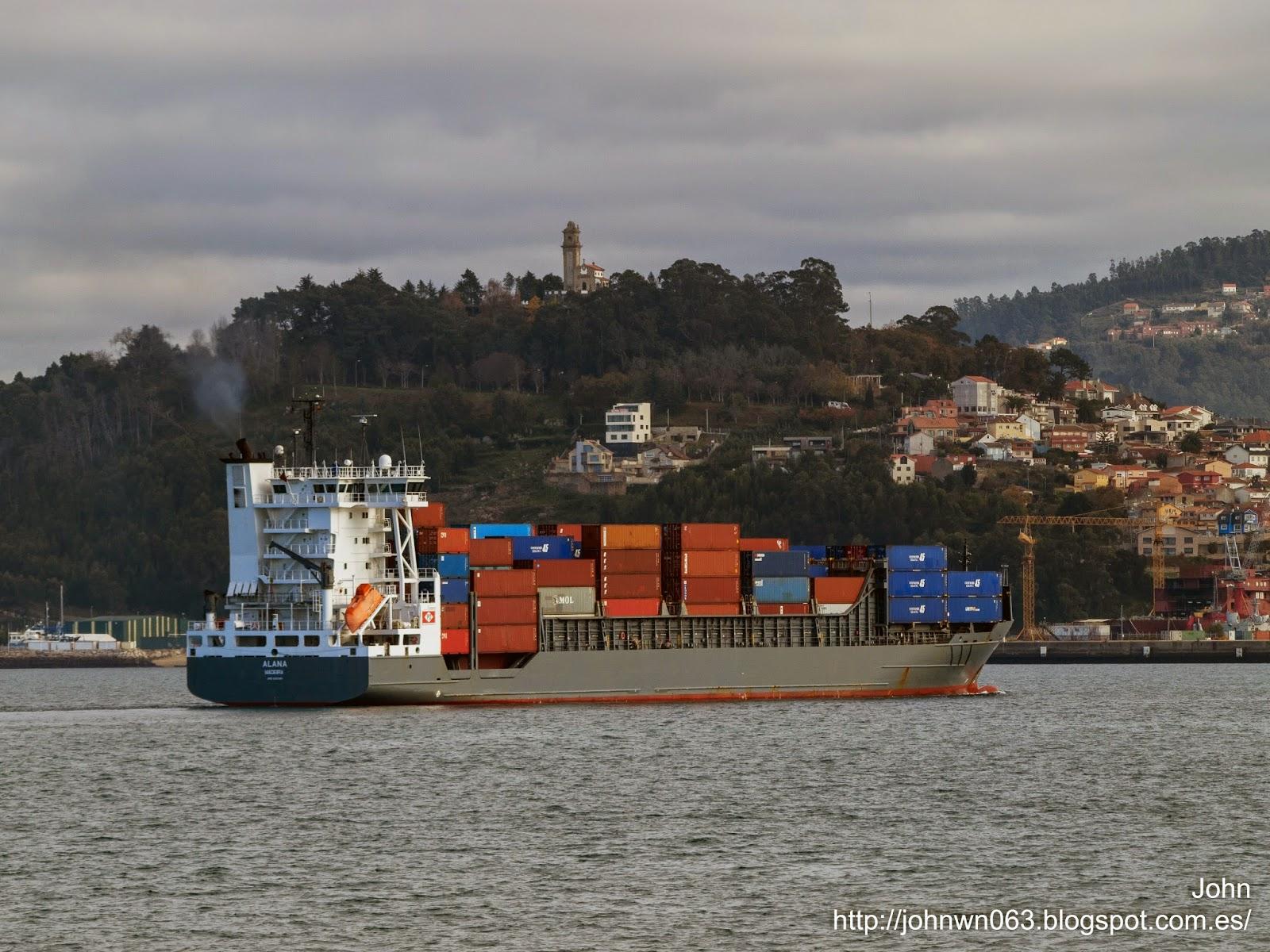 fotos de barcos, imagenes de barcos, alana, dohle schiffahrt, container ship, containero, vigo