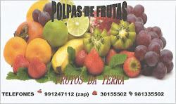POLPAS DE FRUTAS FRUTOS DA TERRA