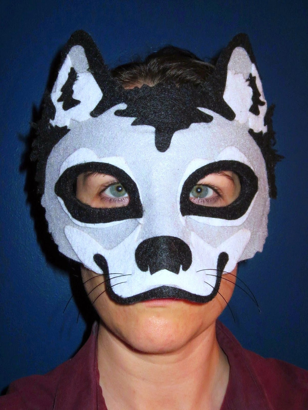 DIY Felt Wolf Mask