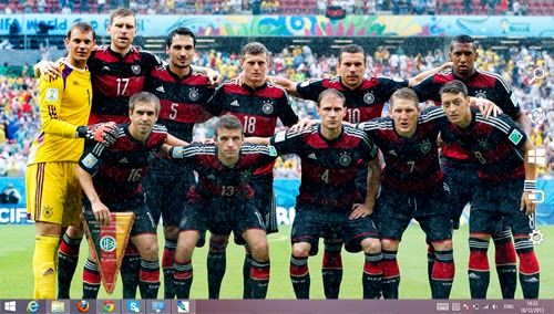 Germany National Team Fifa World Cup 2014 Theme For Windows 7 And 8 8.1