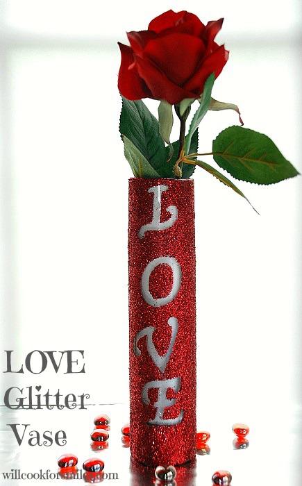 Love Glitter Vase Tutorial Will Cook For Smiles
