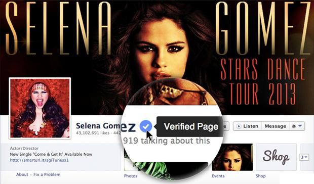 Selena Gomez - Facebook'a Onaylı Profil ve Sayfa Dönemi Geldi