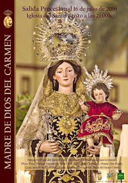 Cartel Madre de Dios del Carmen Arahal 2016