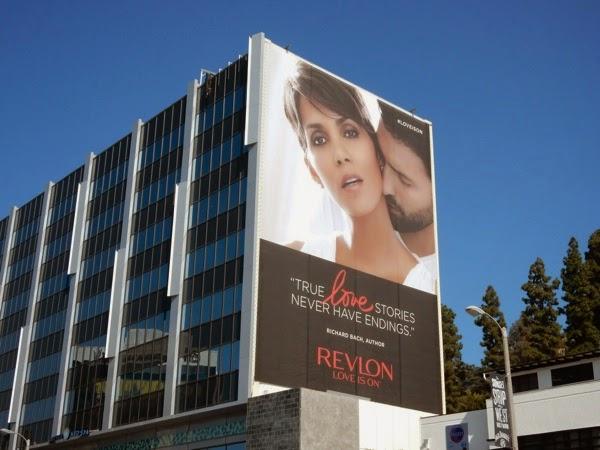 Giant Halle Berry Revlon Love is on billboard April 2015