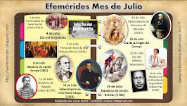 Efemérides de Julio