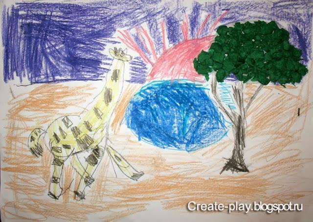 Ребенок рисует на улице