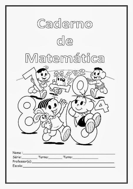 Capas de caderno de matemática