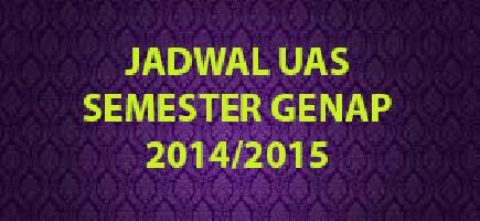 Download Jadwal UAS Semester Genap 2014/2015
