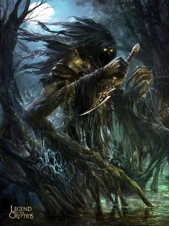 guicaimumu chinese artist illustrations fantasy card games Swamp creature
