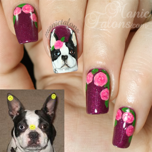 Boston Terrier Nail Art
