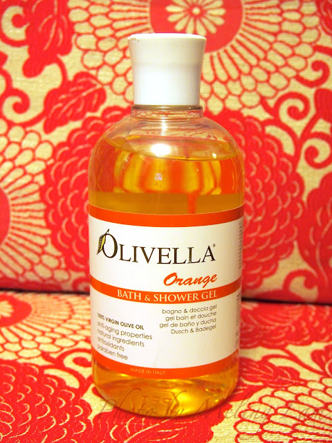 olivella virgin oil shower gel orange natural italy bodycare