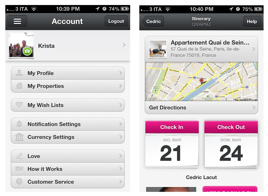 airbnb ios app