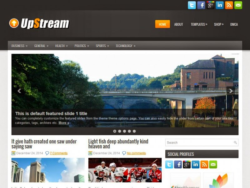 UpStream - Free Wordpress Theme