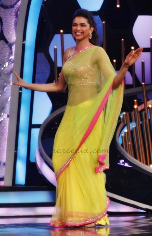Deepika-padukone-saree-dance-DID-super-mom-Zee-tv-reality-show