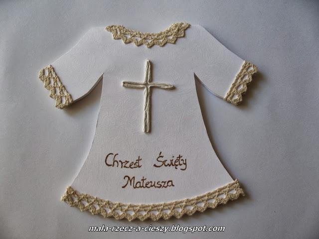 Ręcznie robiona pamiątka na Chrzest Święty