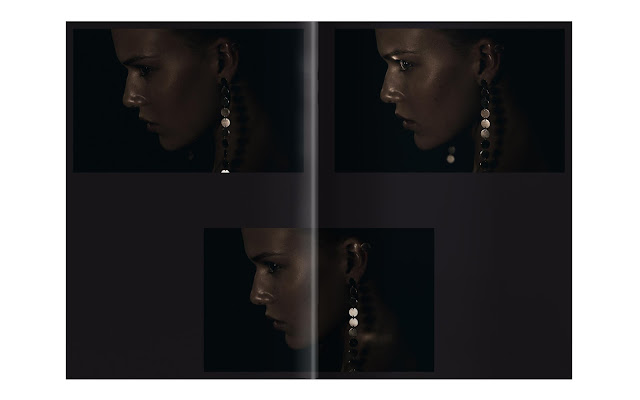 look book spread earrings