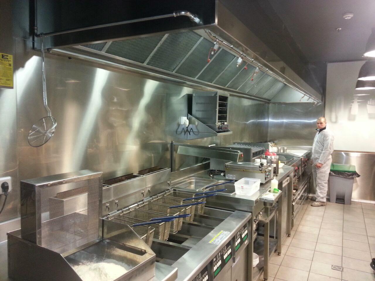 Instalar extracci n de humos en cocinas industriales y for Distribucion de cocinas industriales