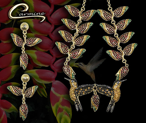 Conjunto Colibri Heliconia - Lançamento joias exclusivas