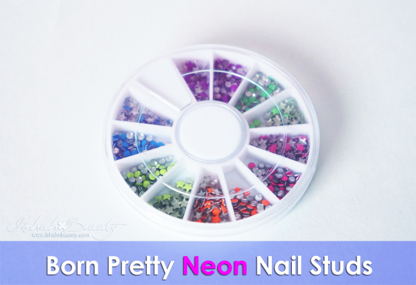 neon color nail studs