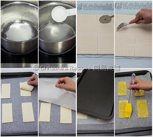 Strawberry Custard Pastry Procedures