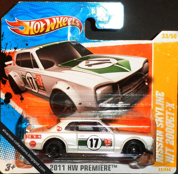 Hot Wheels:  Nissan Skyline H/T 2000 GT-X
