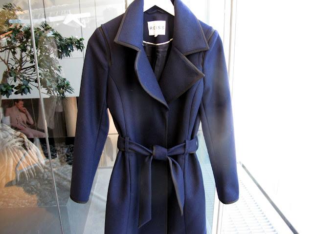 Classic navy blue women's coat