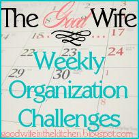 TGW Weekly Organization Challenge