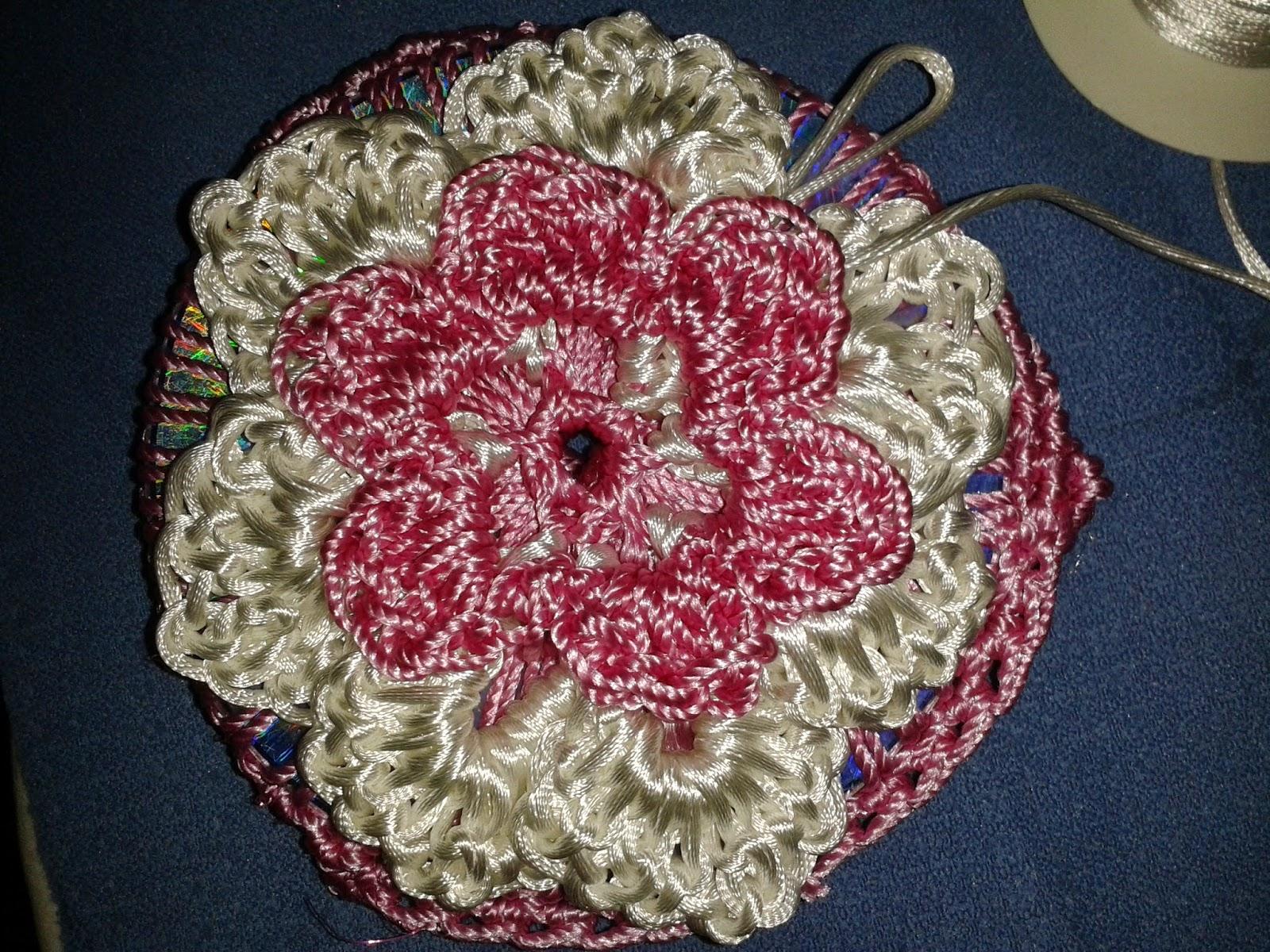 Como hacer flor de 5 o 6 p talos paso a paso tejido - Hacer flores de ganchillo ...