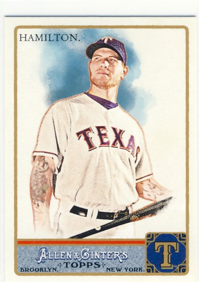 A pack to be named later 2011 topps allen ginter retail for Josh hamilton tattoo