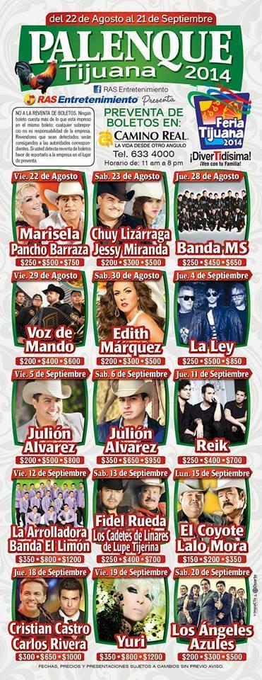 Nuevo programa palenque Feria Tijuana 2014
