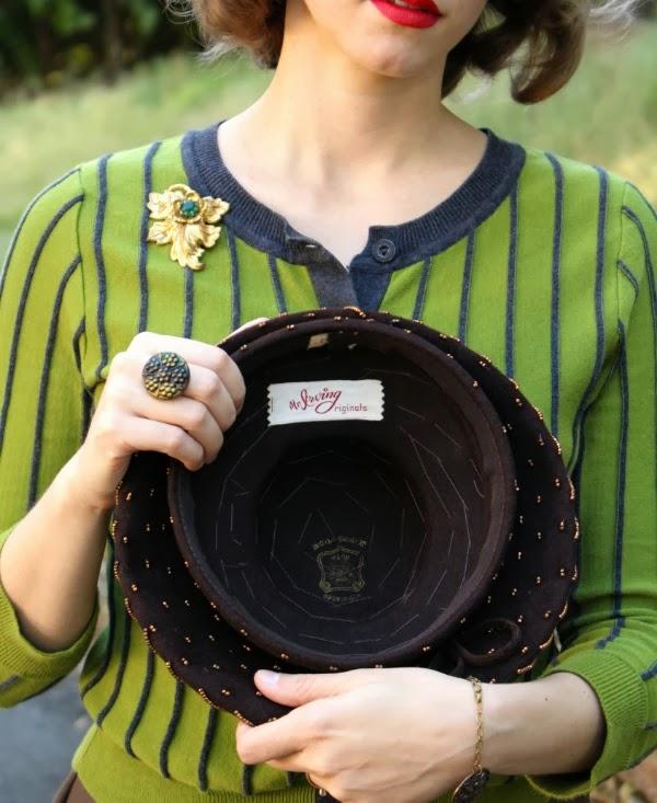 Details on 1930s Tilt Hat #vintage #hat #1930s #irving #fashion